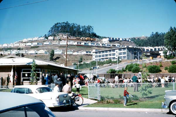 Midtown-terrace-playground (San Francisco) c 1961 by Earl Martin taken at dedication of the playground