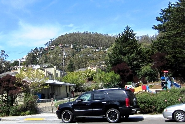 Forest Knolls, San Francisco, in April 2012 - view from near Armenian Church