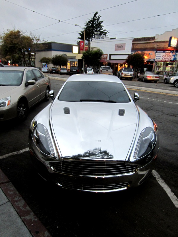 shiny aston martin