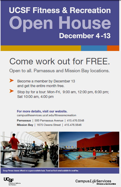 UCSF Fitness Center promo