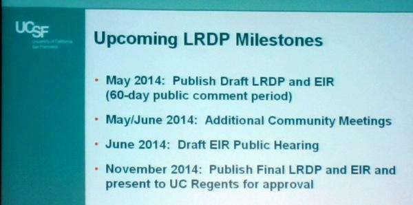LRDP Milestones
