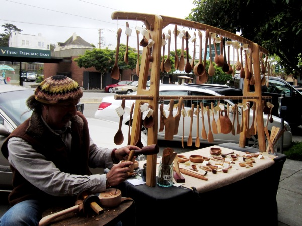 3 handmade wooden spoons