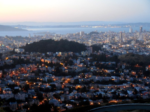 nightfall in san francisco