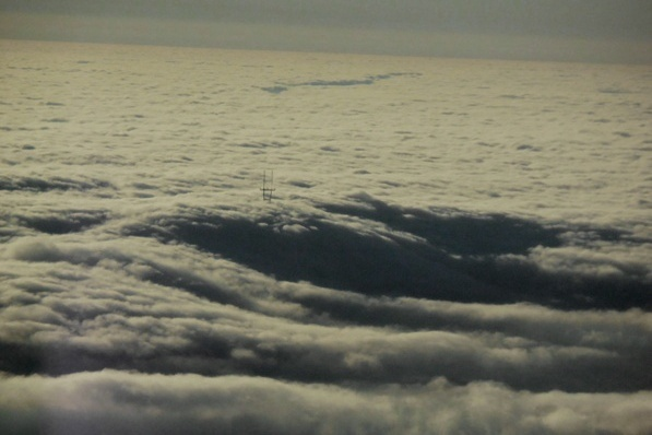 sutro tower above the fog