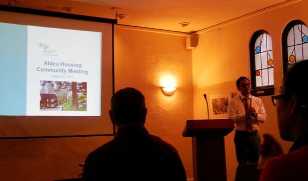 UCSF Damon Lew presenting new plan for Aldea