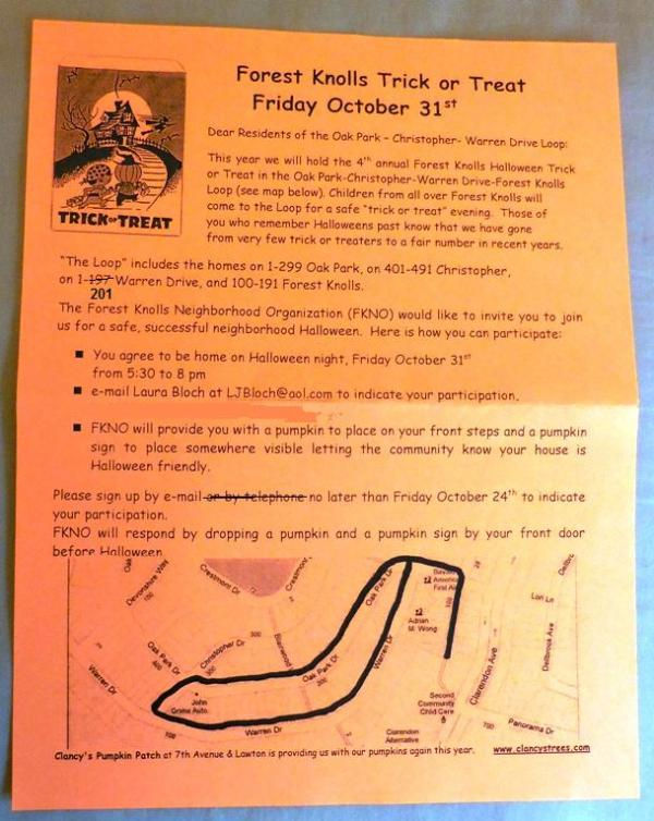 halloween map forest knolls 2014