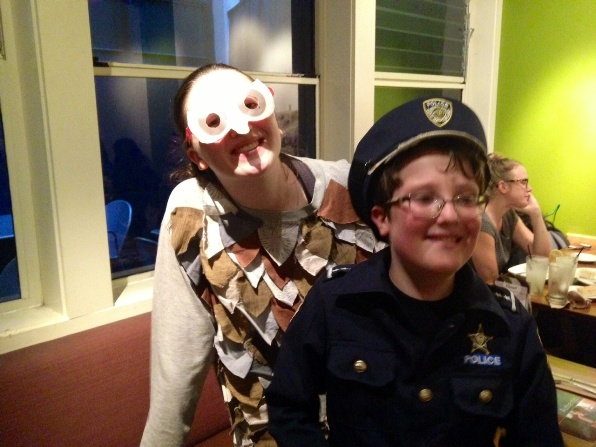 Halloween - Officer E and his sidekick owl