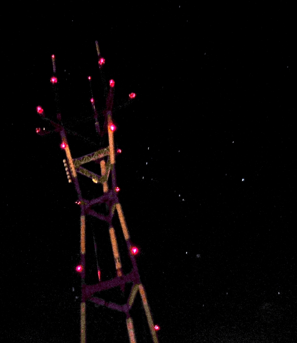 sutro tower and stars