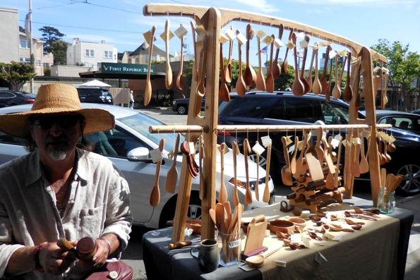 handmade ergonomic and tactile wooden spoons