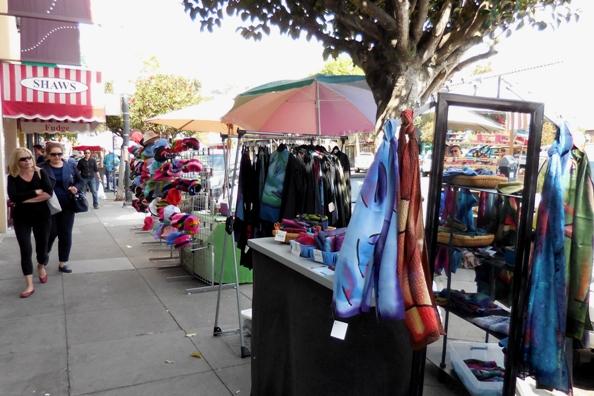 handmade silks scarves and overshirts - and fun hats