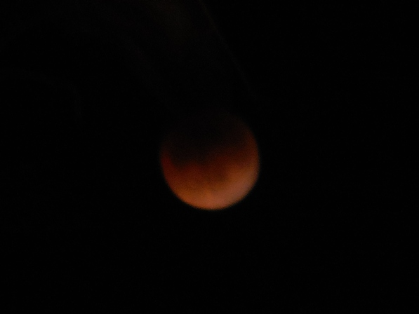 eclipsed supermoon 8.22 pm